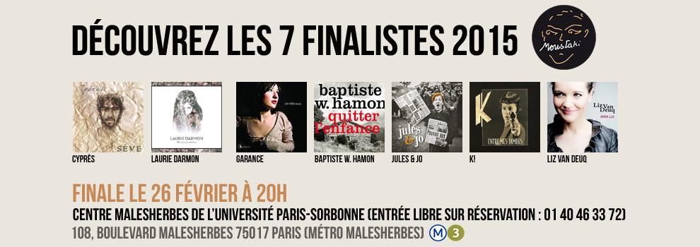 bandeau / Finalistes 2015