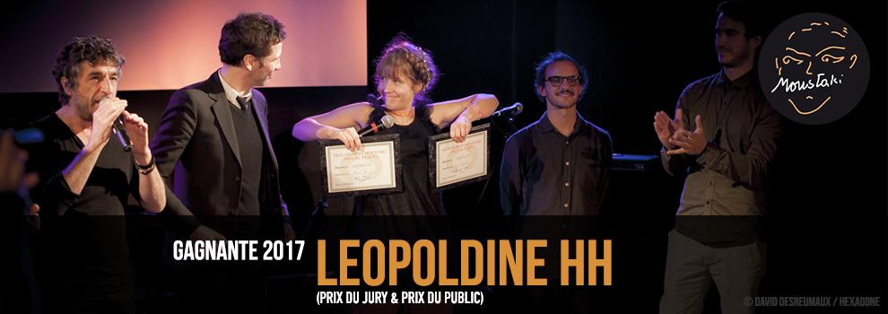 Léopoldine HH Prix Georges Moustaki 2017