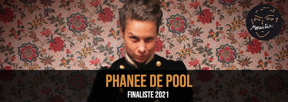 Phanee de Pool finaliste 2021 Prix Moustaki